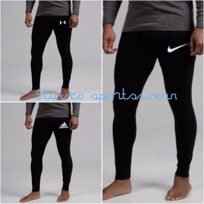Celana Baselayer Panjang Longpants Legging Futsal Renang Badminton Voli Fitness Gym Jogging Shopee Indonesia