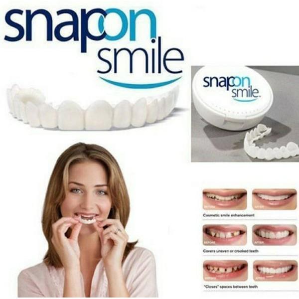 Penawaran Spesial Snap On Smile Authentic Gigi Palsu Snap On Smile 1 set Veneer Gigi Terlaris
