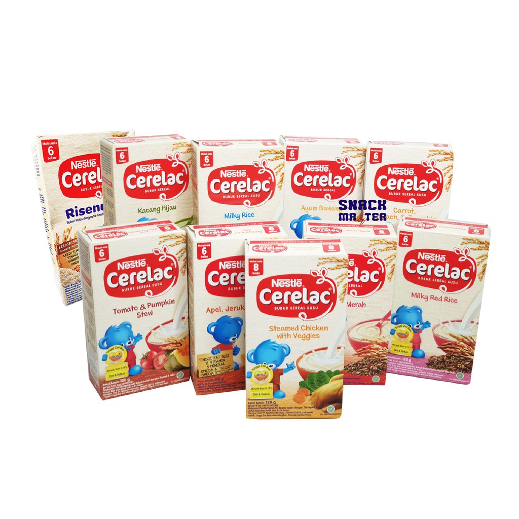 Cerelac Bubur Bayi 6 Bulan Netto 120 Gr Shopee Indonesia