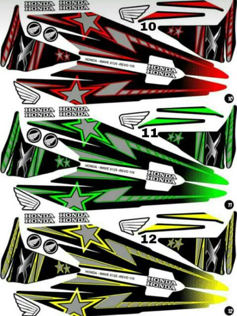 Sticker Striping Variasi Thailand Thailook Honda Revo Fit Wave X Shopee Indonesia