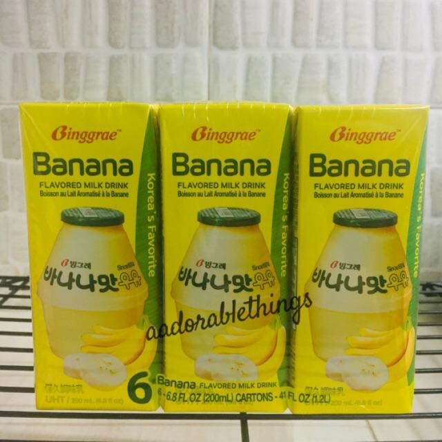 Ready Stock Susu Pisang Binggrae Banana Milk Korea Halal Uht 200ml Shopee Indonesia