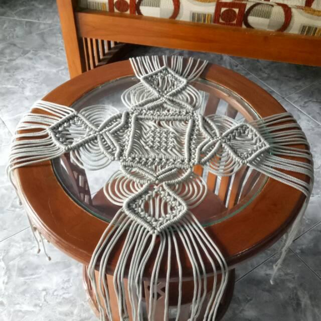 Image result for alas meja dari tali