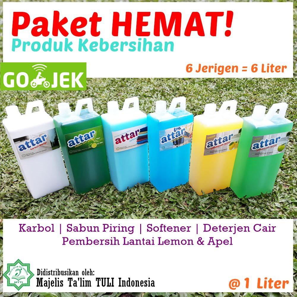 Paket Hemat Attar Sabun Cuci Piring Deterjen Cair Karbol Softener Pembersih Lantai Shopee Indonesia