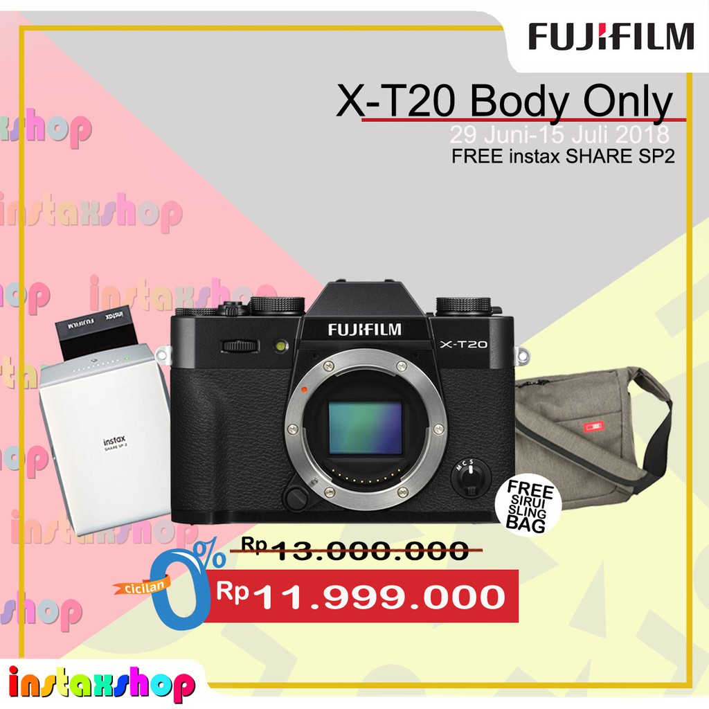 Fujifilm Xa10 X A10 Kit 16 50mm Pink Shopee Indonesia A5 15 45mm F 35 56 Ois Pz Pwp 23mm 2
