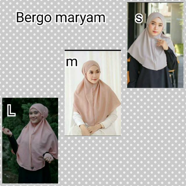 Jilbab Instan Bergo Maryam Hijab Bergo Tali Jilbab Khimar Simpel Tali Bergo Shopee Indonesia