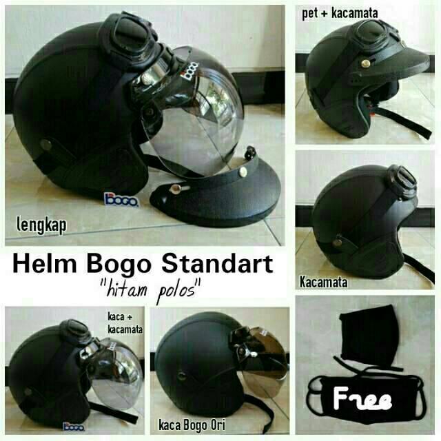 Helm bogo dewasa polos  819baf866d
