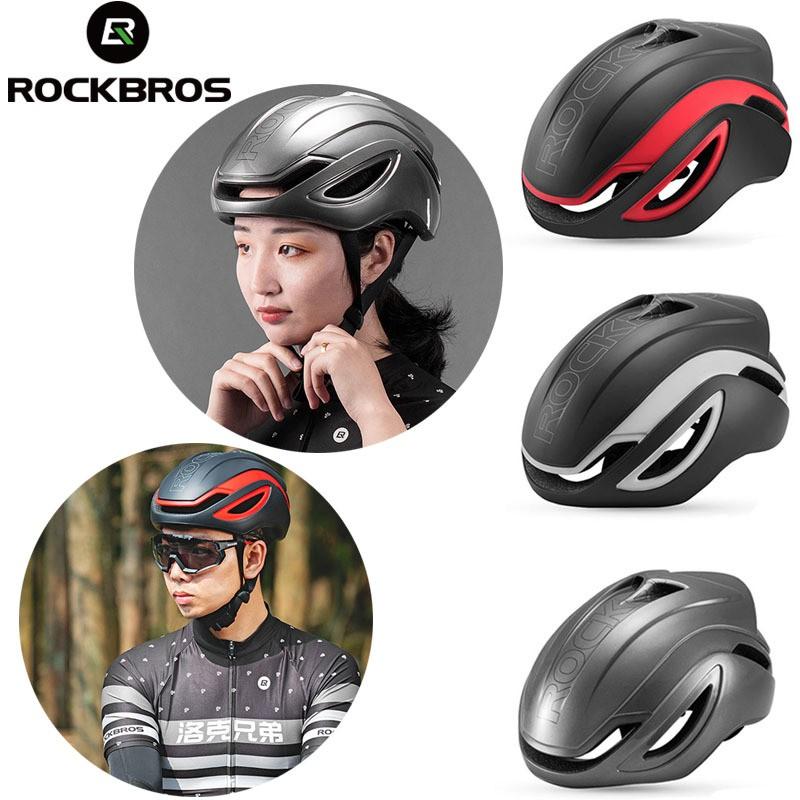ROCKBROS MTB Road Bike Pneumatic Streamlined Cycling Protective Helmet Red Black