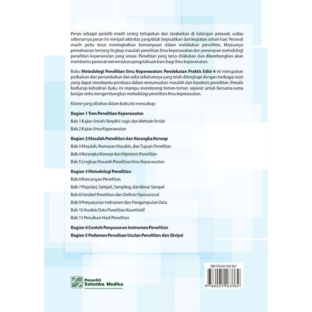 Jual Metodologi Penelitian Ilmu Keperawatan Prof Dr Nursalam