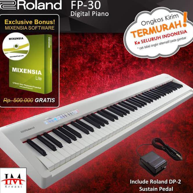 Roland Fp 30 Fp30 Digital Piano Hitam Shopee Indonesia
