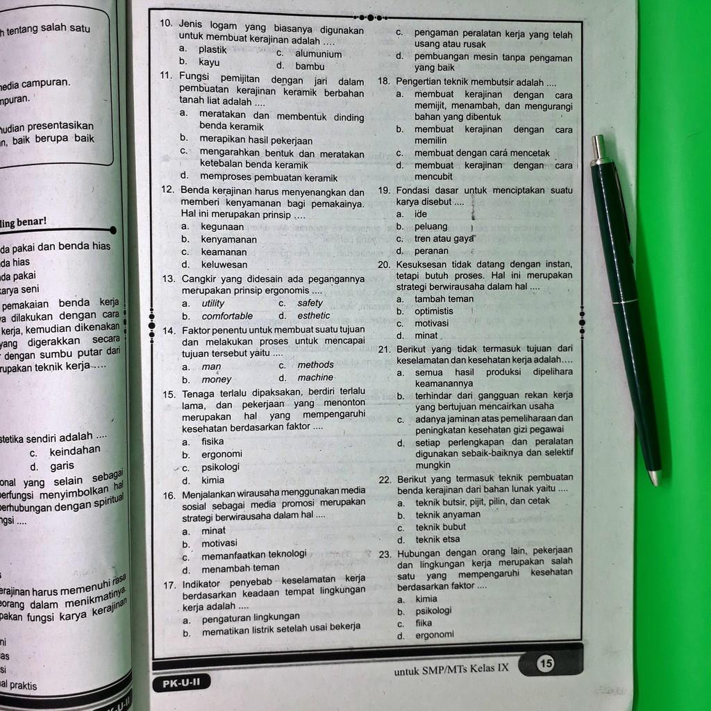 Kunci Jawaban Lks Prakarya Kelas 11 Semester 2 Kurikulum 2013 Guru Galeri