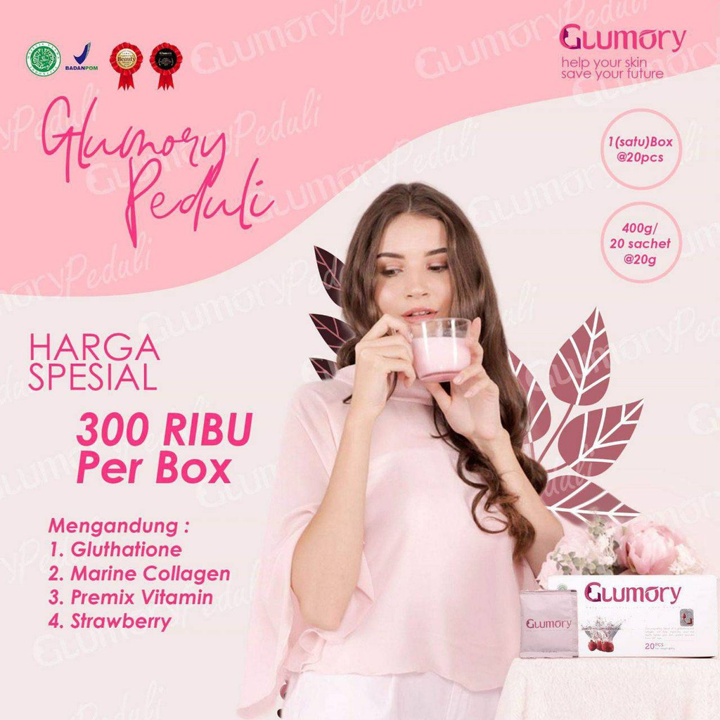 Glumory Beauty Drink Minuman Collagen Suplemen Kecantikan Hooh Shopee Indonesia