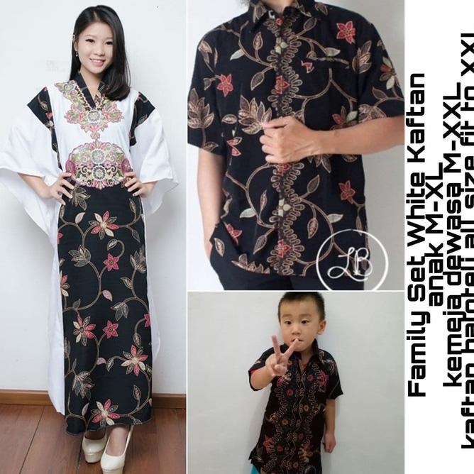 47 Model Baju Couple Batik Keluarga 1 Anak Bayi Kekinian