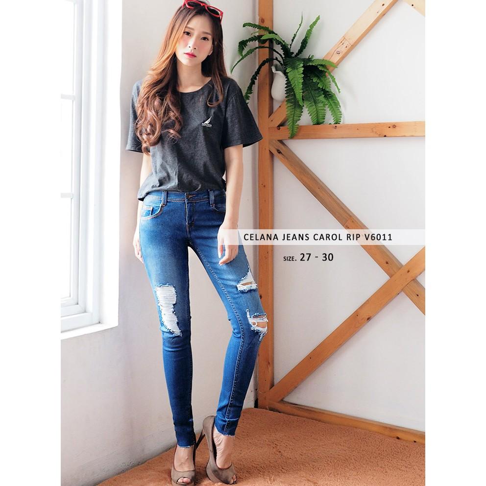 Celana Cutbray Jeans Jumbo Wanita - Cutbray Rumbai Keren Jumbo DMD (ready NAVY dan SNOW BLUE)   Shopee Indonesia