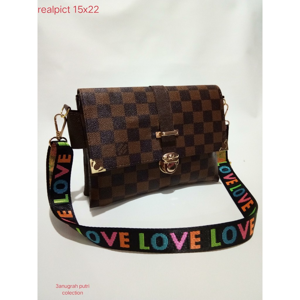 a313be94eac9 CLUTCH 6666 LV IMPORT SUPER NEW !!! DOMPET TANGAN BISA SELEMPANG ...