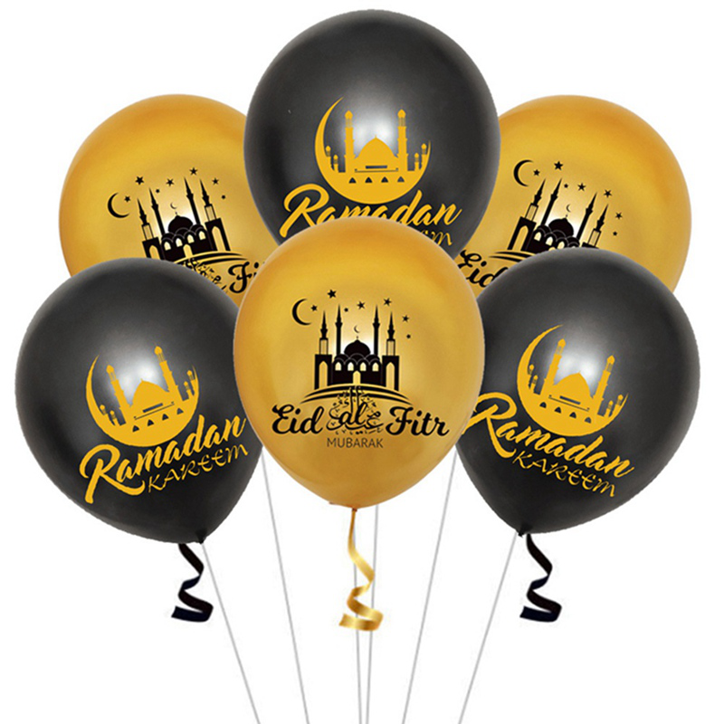Gold Eid Mubarak Balloons Ramadan Diy Decoration Muslim Party Supplies New Shopee Indonesia