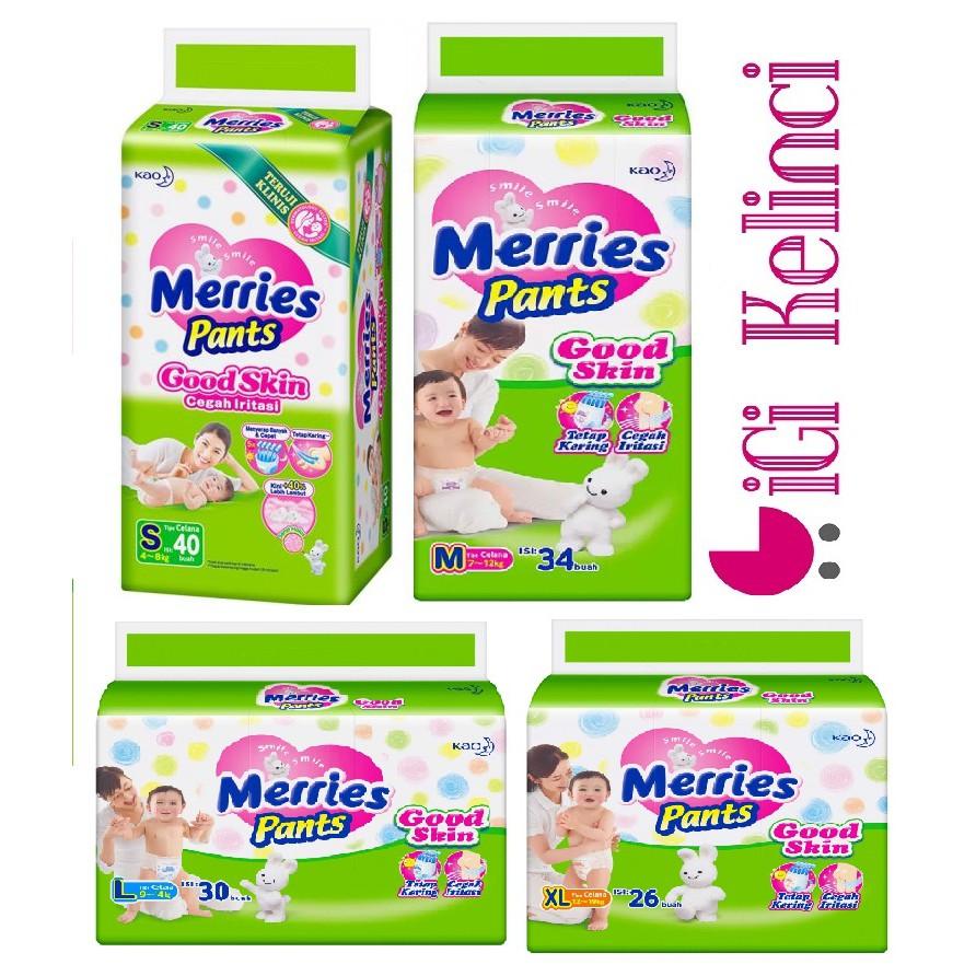Merries Pants Good Skin Jumbo Pack M34 L30 Xl26 Shopee Indonesia Popok Xl 16 Pulau Jawa Only