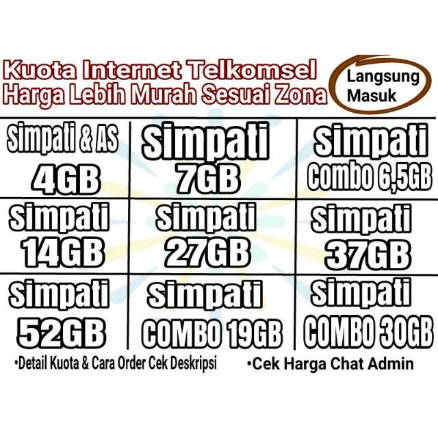 Promo Paket Data Kuota Telkomsel Murah Sesuai Zona Simpati As Loop Shopee Indonesia