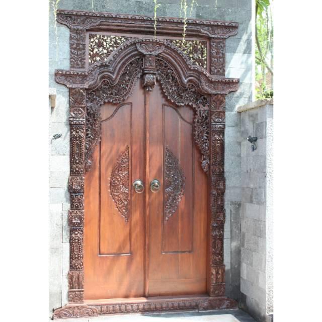 Pintu Gebyok Gapura Ukir Bahan Kayu Jati Asli Jepara Shopee Indonesia