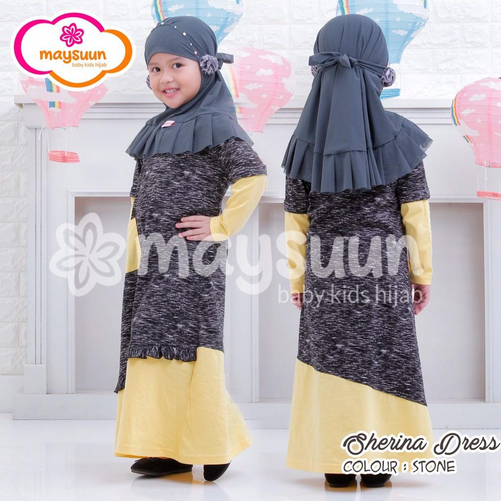 Gamis Anak Modern Gamis Anak unik Baju muslim anak berkualitas dress anak  cantik Sherina Maysuun