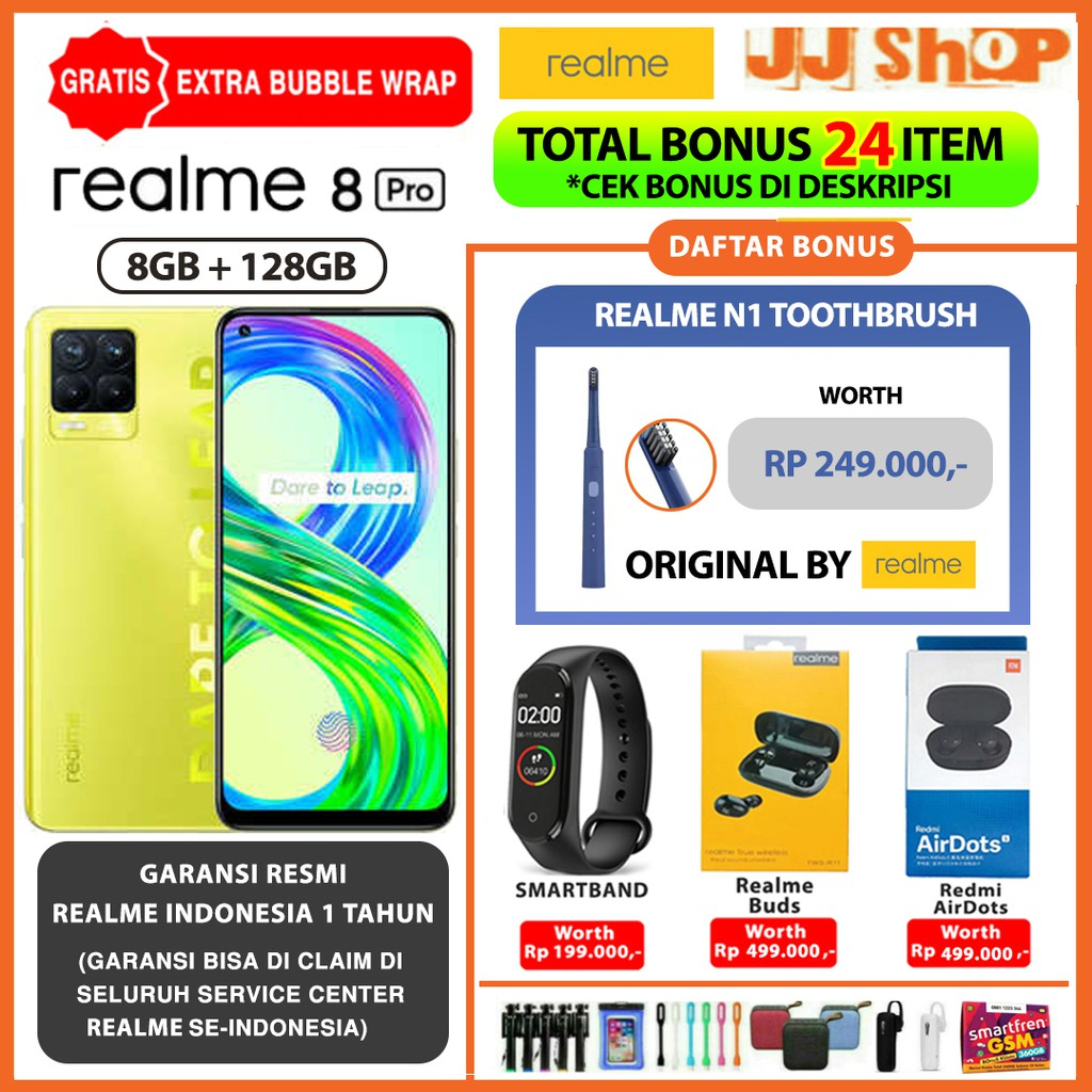 REALME 8 PRO - REALME 8 - REALME 7I 7 8/128 GB RAM 8GB ROM 128GB GARANSI RESMI