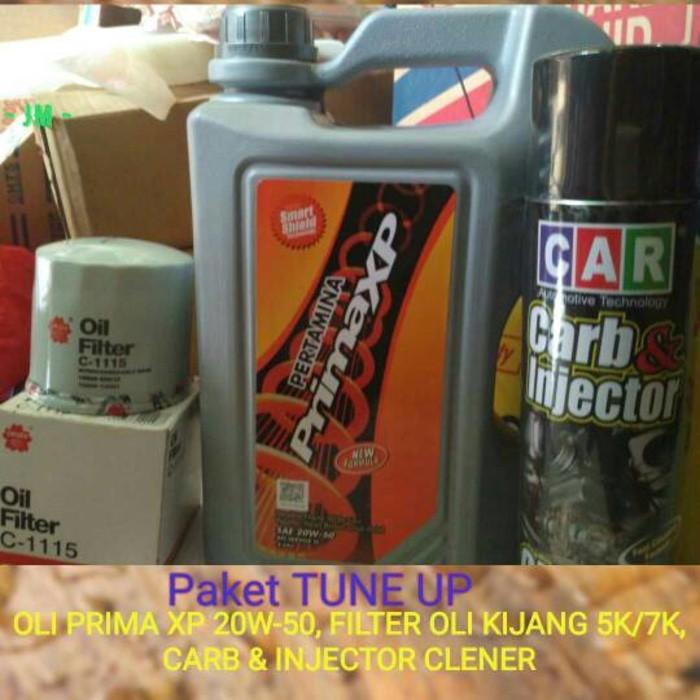 OLI PRIMA XP 20W 50 4L FILTER KIJANG AVANZA APV CARRY CARB CLEANER 500ml