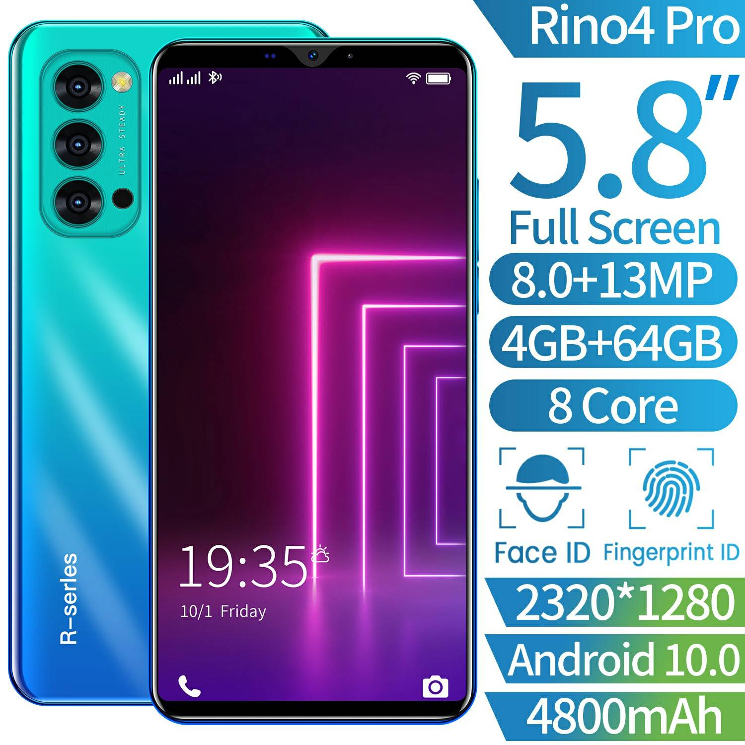 "Oppo Rino4 Pro Smartphone Android Ram 4gb Layar 5.8 ""hp"