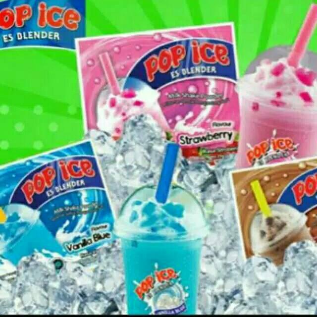 Banner Minuman Pop Ice - desain spanduk keren