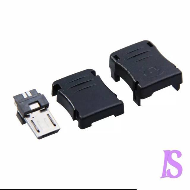 20PCS DIY Micro USB 5 Pin T Port Male Plug Socket Connector/&Plastic Cover