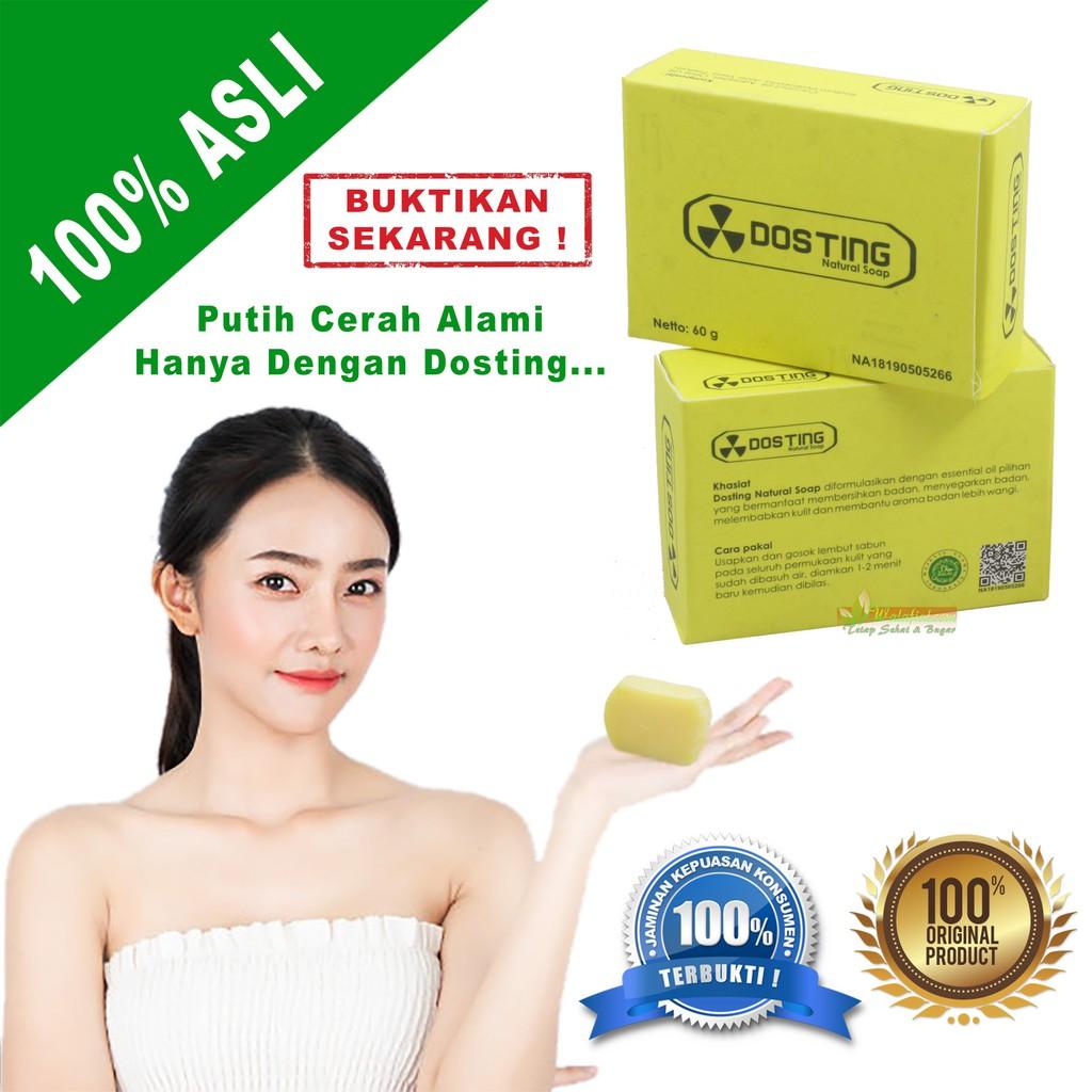 Dosting Original Sabun Pemutih Memutihkan Wajah Kulit Tubuh Badan Bpom Tanpa Mercury Whitening Shopee Indonesia