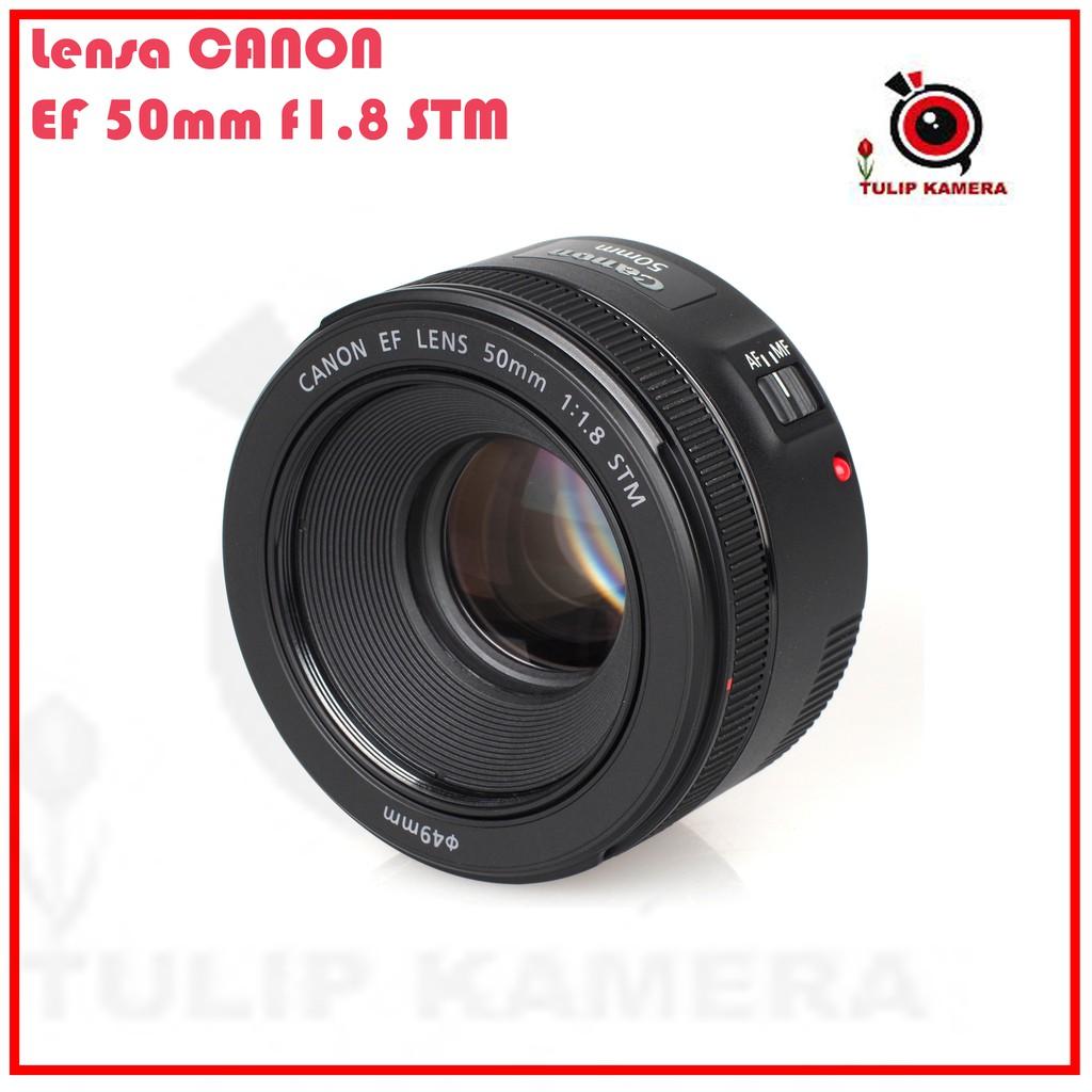 New Canon Ef 50mm F 18 Stm Free Pulsa Shopee Indonesia Lensa