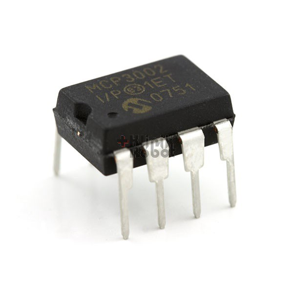 MCP3002-I/SN DIP8 2.7V Dual Channel 10-Bit A/D Converter with SPI (Serial Interface) KR05024