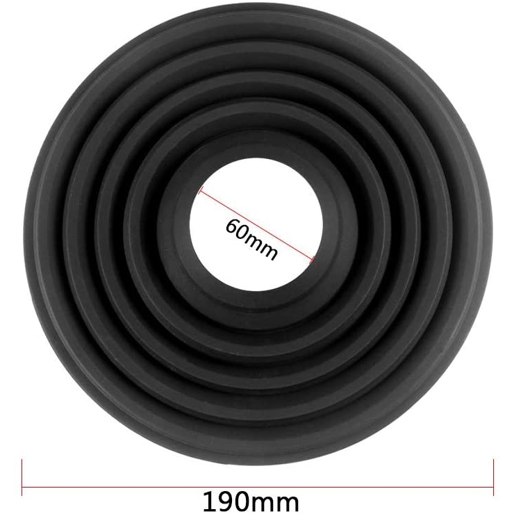 Bluelliant Collapsible Ultimate Lens Hood Silicone Camera Cover Sun Shade for 58-80mm Camera Lens 60mm