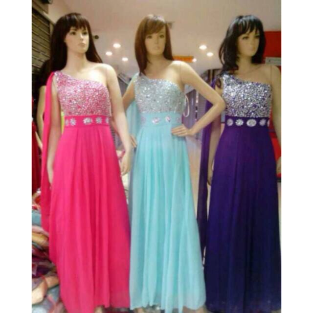 Longdress Import Gaun Pesta Korea Baju Pesta Jual Gaun Pesta