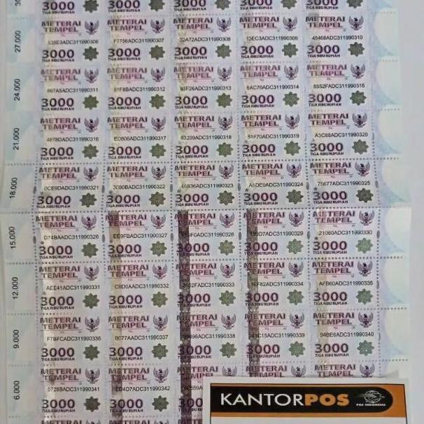 MATERAI 3000 MATERAI 6000  Materai10000