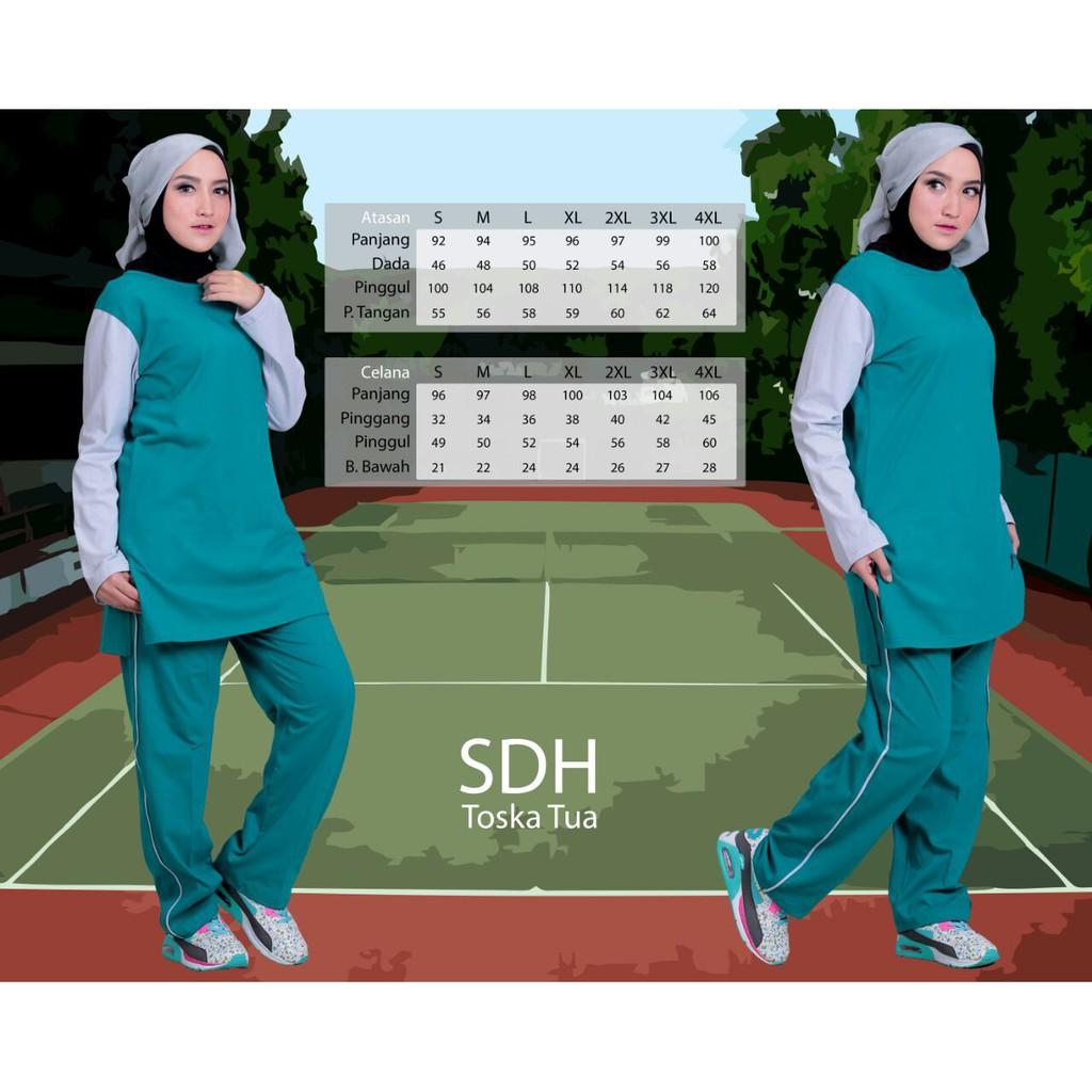 Stelan Training Muslim Baju Olahraga Senam Kaos Setelan Lengan Panjang Ampamp Celana Jeans Lr 118c Muslimah Shopee Indonesia