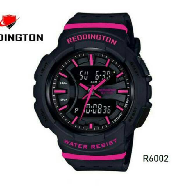 Dual Time Jam Tangan WANITA - Strap Rubber - Merah. 210.000 ·