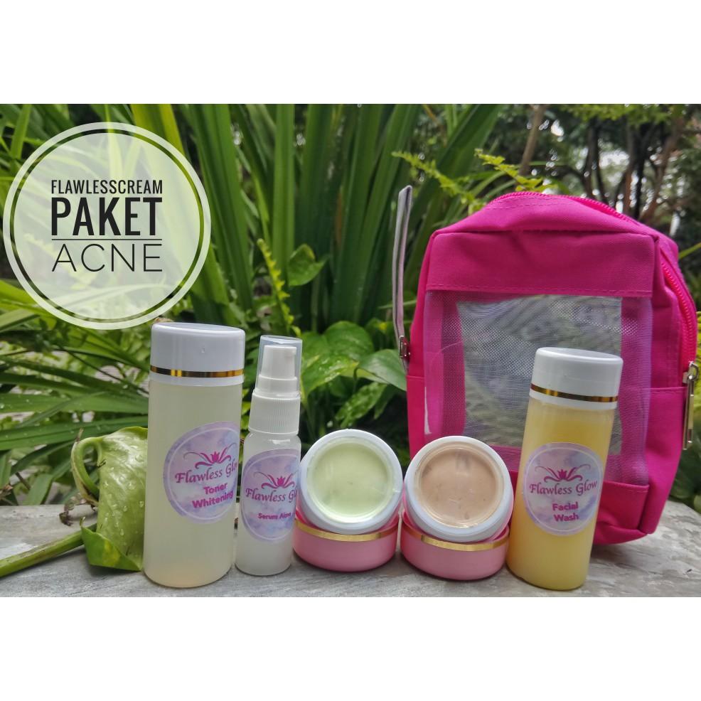 Ra Glow Paket Non Pengelupasan Cream Pemutih Wajah Racikan Dokter Acne Whitening I5083 Shopee Indonesia