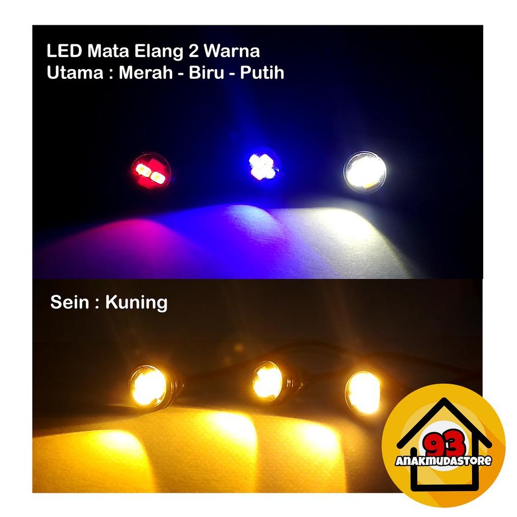 MATA ELANG 2 SISI BULLAES SEPASANG I mata elang sorot I lampu led plat nomor mata elang led 2 sisi | Shopee Indonesia