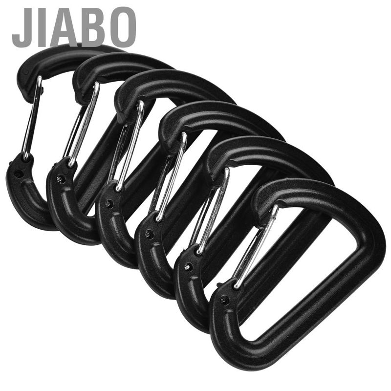 20 x S Shape Type Carabiner Buckle Quickdraw Gated Key Ring Clip Hook Sports