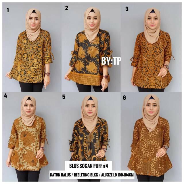 Model Baju Batik Atasan Wanita Kerja Kantoran Trend 2019