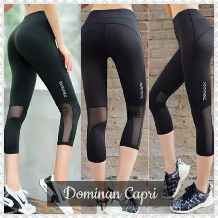 Celana Legging Sport Celana Senam Gym Yoga Fitness Olahraga 3 4 Wanita Shopee Indonesia