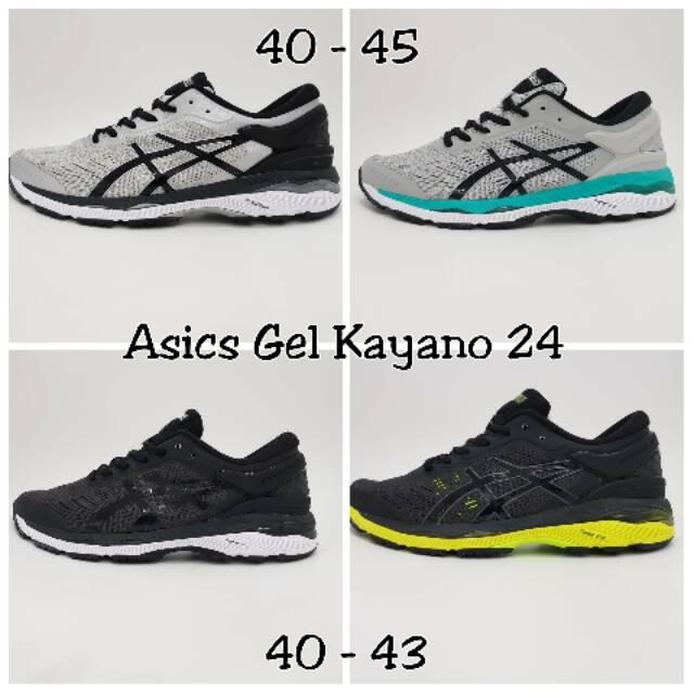 Asli Olahraga ASIC_Women dan Pria GEL Kayano 24 Sepatu Lari