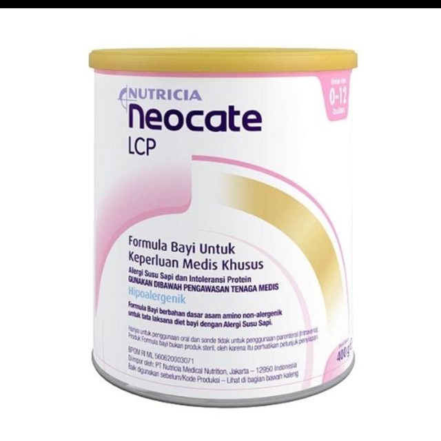 Neocate LCP 400gr exp apr 2020( stok byk!!)