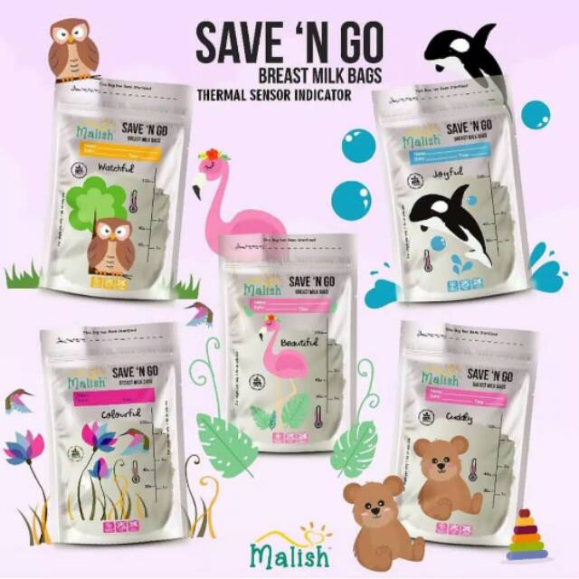 Malish Kantong Asi Save N Go Breastmilk Bags Thermal Sensor Indicator 100 ml