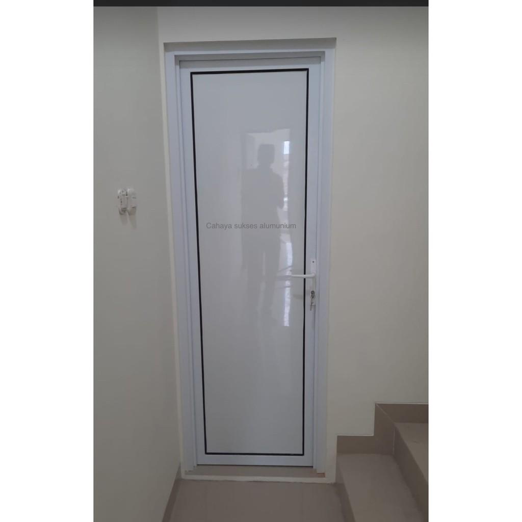 pintu aluminium acp kamar - Putih