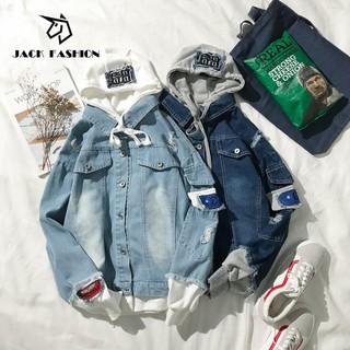 Jaket Hoodie Lengan Panjang Casual Model 2 Lapis Palsu 8801  f3a8f31724