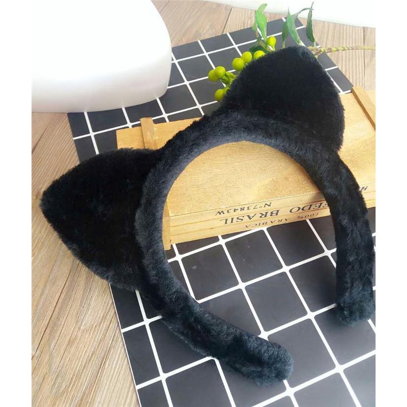 Hair Clip With Sequins Cats Ears Headwear Wool Felt Cat Ear Hair Clips