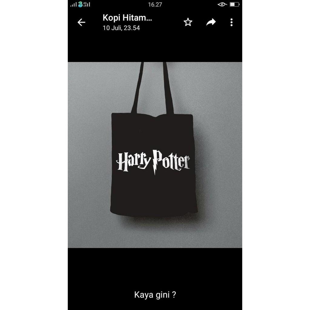 Totebag harry potter a69 murah shopee indonesia