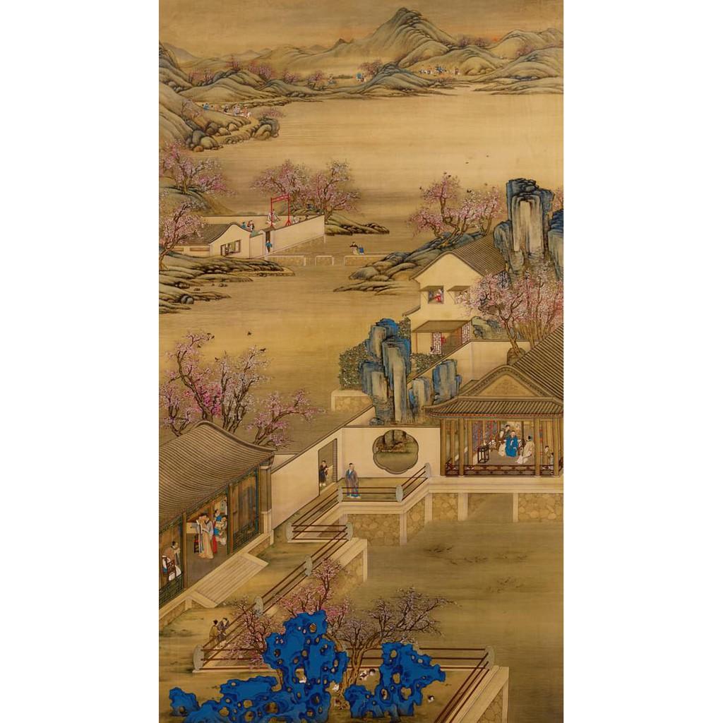 Juw5 Repro Lukisan Klasik Tradisional China Hoki Feng Shui Jaya Kaya Bagus Ph3