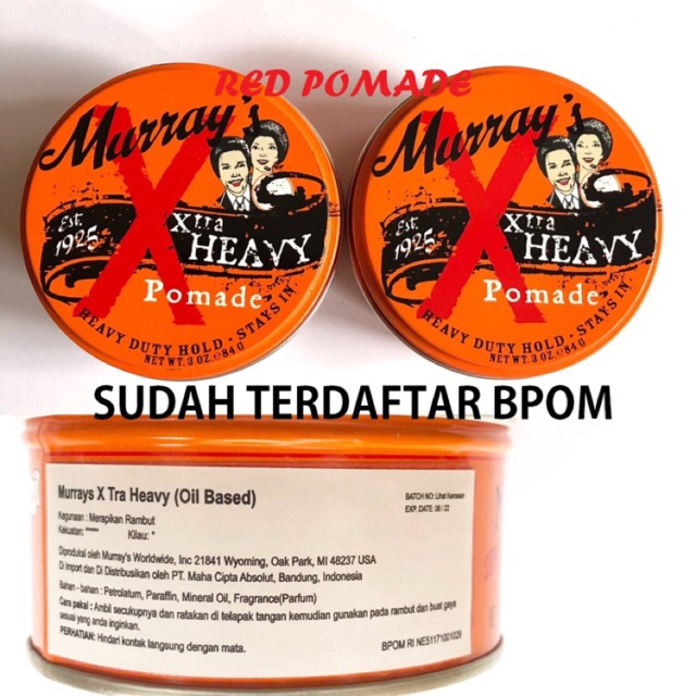 POMADE MURRAYS HAIR GLO / HAIRGLO ORIGINAL USA SUDAH BPOM + FREE SISIR | Shopee Indonesia